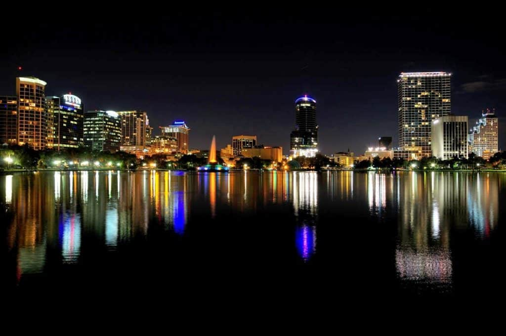 Orlando Florida Lake Eola at Night
