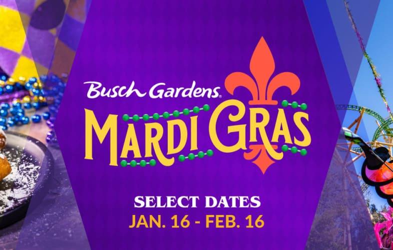 Busch Garden's Mardi Gras Event 2021